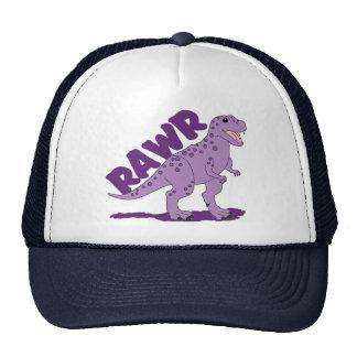 Dinosaurio manchado púrpura de RAWR T-Rex Gorro