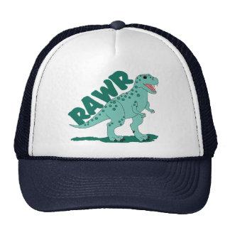 Dinosaurio manchado verde de RAWR T-Rex Gorra