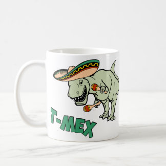 Dinosaurio mexicano del Tyrannosaurus de T-Mex T-R Tazas De Café