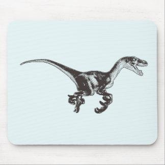Dinosaurio Mousepad del Velociraptor Tapetes De Ratón