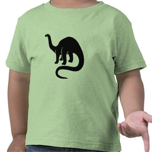 Dinosaurio - negro camiseta