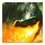 Dinosaurio o dragón de Fuego-Respiración de Invitacion Personalizada
