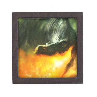 Dinosaurio o dragón de Fuego-Respiración de Michae Caja De Recuerdo De Calidad