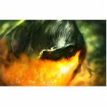 Dinosaurio o dragón de Fuego-Respiración de Michae Escultura Fotografica