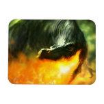 Dinosaurio o dragón de Fuego-Respiración de Michae Imanes Flexibles
