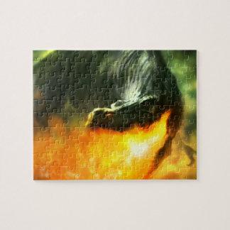 Dinosaurio o dragón de Fuego-Respiración de Michae Rompecabezas