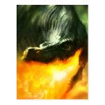 Dinosaurio o dragón de Fuego-Respiración de Michae Postales