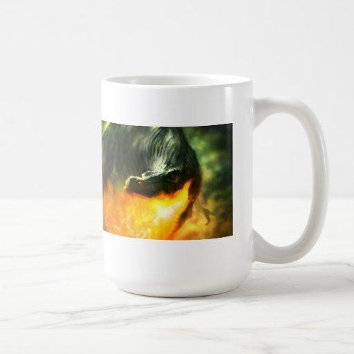 Dinosaurio o dragón de Fuego-Respiración de Michae Tazas