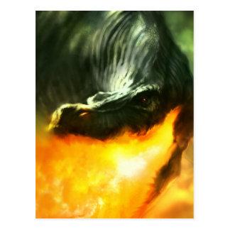 Dinosaurio o dragón de Fuego-Respiración de Tarjetas Postales