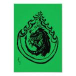 Dinosaurio o dragón llameante por el dulce del NIC Invitación 8,9 X 12,7 Cm