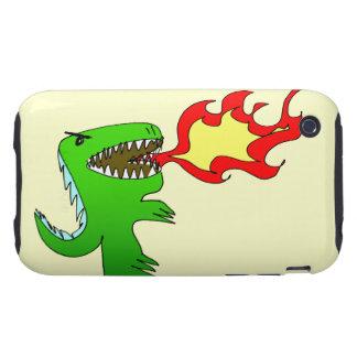 Dinosaurio o dragón por poco t + Jessica Jimerson Tough iPhone 3 Carcasas