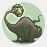 Dinosaurio Pegatina Redonda