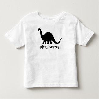 Dinosaurio: Portador de anillo Playera De Bebé