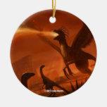 Dinosaurio prehistórico de Fuego-Respiración de Ornamentos Para Reyes Magos