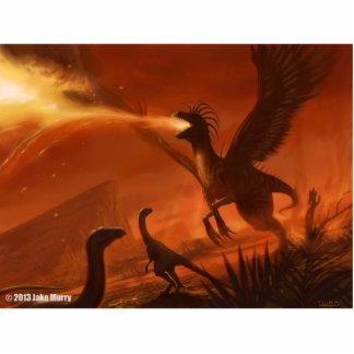 Dinosaurio prehistórico de Fuego-Respiración de Ja Escultura Fotografica
