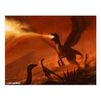 Dinosaurio prehistórico de Fuego-Respiración de Ja Postales