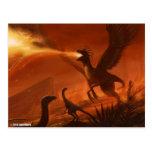 Dinosaurio prehistórico de Fuego-Respiración de Tarjeta Postal