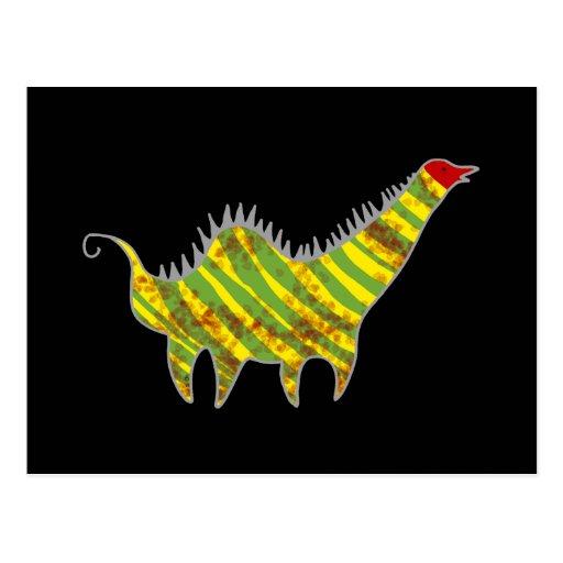 Dinosaurio principal rojo postal