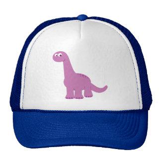 Dinosaurio púrpura del Brontosaurus Gorros