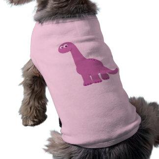 Dinosaurio púrpura del Brontosaurus Playera Sin Mangas Para Perro