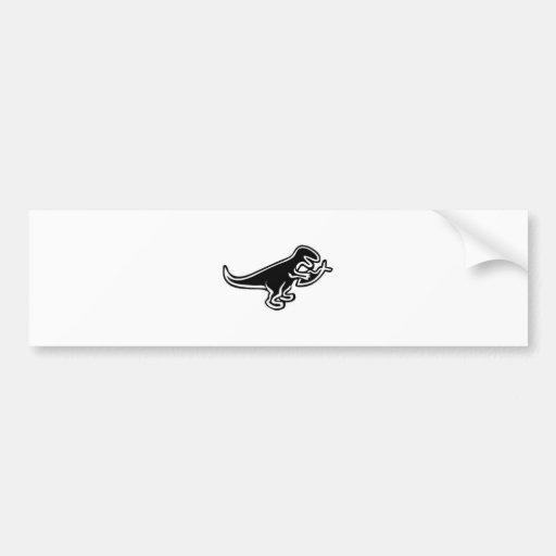 Dinosaurio que come los pescados de Jesús Etiqueta De Parachoque