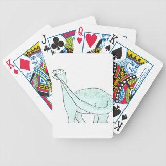 Dinosaurio que escoge su nariz barajas de cartas