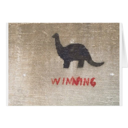 Dinosaurio que gana felicitacion