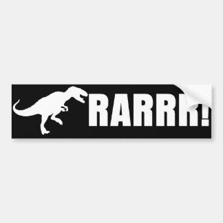 ¡Dinosaurio RARRR! Etiqueta De Parachoque
