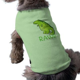 dinosaurio, RAWR Playera Sin Mangas Para Perro