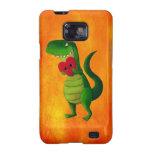 Dinosaurio romántico de RAWR Galaxy S2 Carcasa