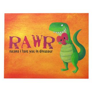 Dinosaurio romántico de RAWR T-rex Blocs De Papel