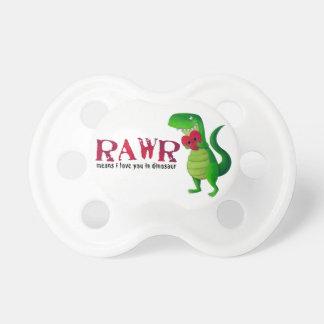 Dinosaurio romántico de RAWR T-rex Chupete
