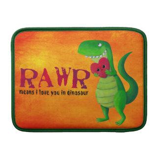 Dinosaurio romántico de RAWR T-rex Fundas MacBook