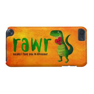Dinosaurio romántico de RAWR T-rex Funda Para iPod Touch 5G
