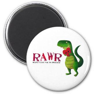 Dinosaurio romántico de RAWR T-rex Imán Redondo 5 Cm