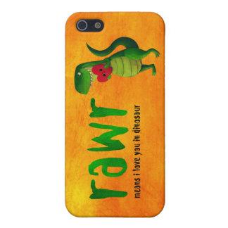 Dinosaurio romántico de RAWR T-rex iPhone 5 Carcasa