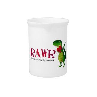 Dinosaurio romántico de RAWR T-rex Jarron