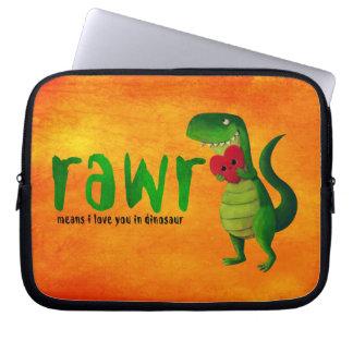 Dinosaurio romántico de RAWR T-rex Mangas Portátiles