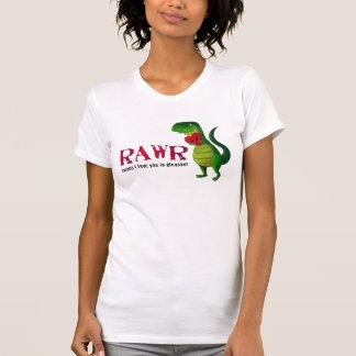 Dinosaurio romántico de RAWR T-rex Remeras