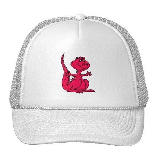 Dinosaurio rosado de Huggy Gorra