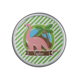 Dinosaurio rosado, Dino; Rayas verdes y blancas Altavoz