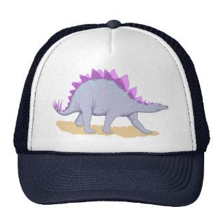Dinosaurio rosado y púrpura del Stegosaurus Gorro