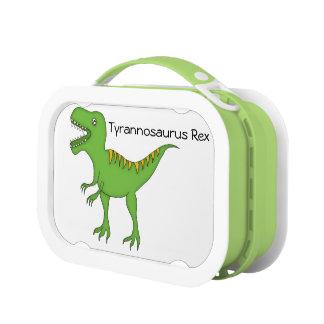 Dinosaurio-T-Rex verde lindo+Personalice el nombre