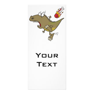 dinosaurio tonto del t-rex que esquiva el dibujo a diseño de tarjeta publicitaria