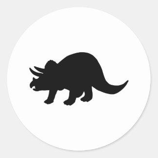 Dinosaurio - Triceratops Pegatina Redonda