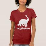 Dinosaurio vegetariano camisetas