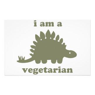 Dinosaurio vegetariano del Stegosaurus - verde Papeleria