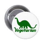 Dinosaurio vegetariano pin redondo de 2 pulgadas