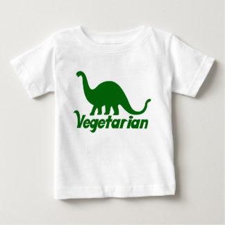 Dinosaurio vegetariano playera de bebé