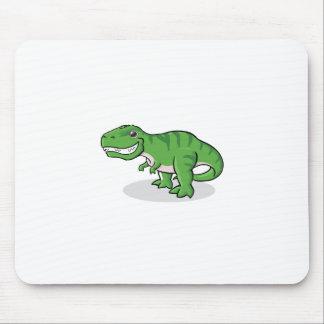 Dinosaurio verde de Rex del Tyrannosaurus (T-Rex) Alfombrillas De Raton